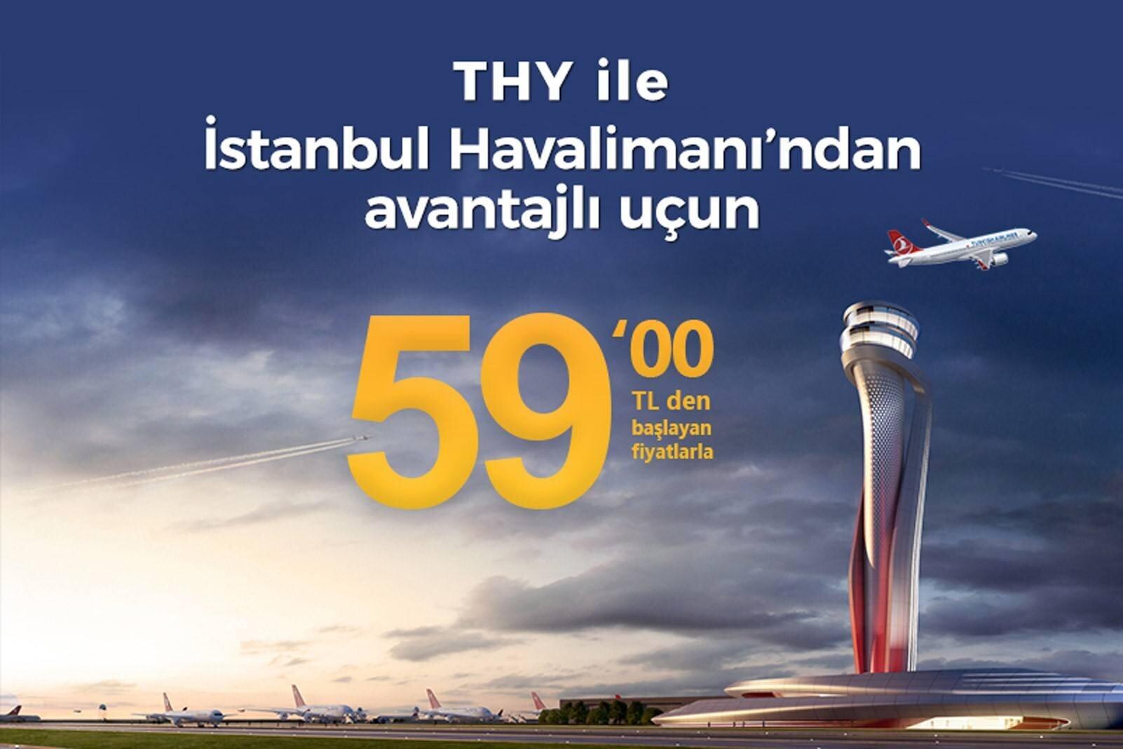 THY ile 59 TL'ye Yeni Havalimanından Avantajlı Uçun!