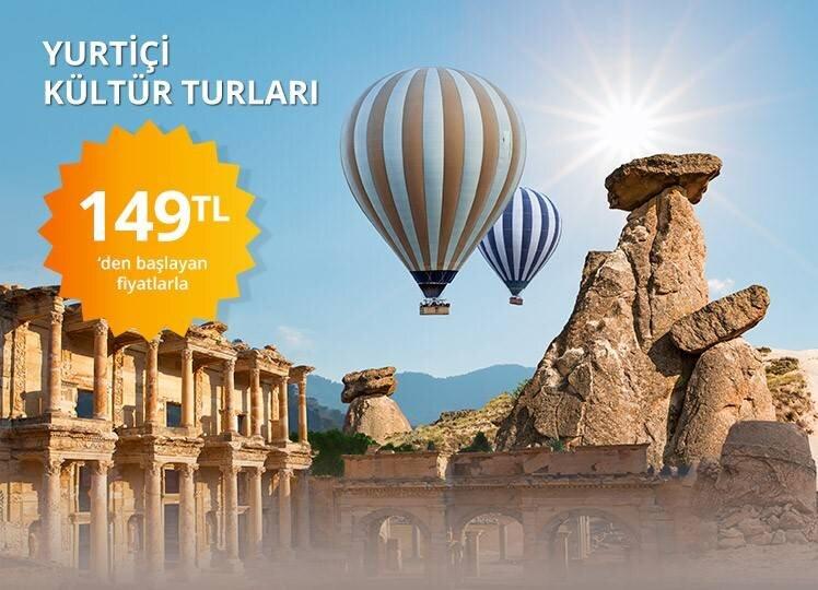 Yurt İçi Kültür Turları 149 TL'den Başlayan Fiyatlarla
