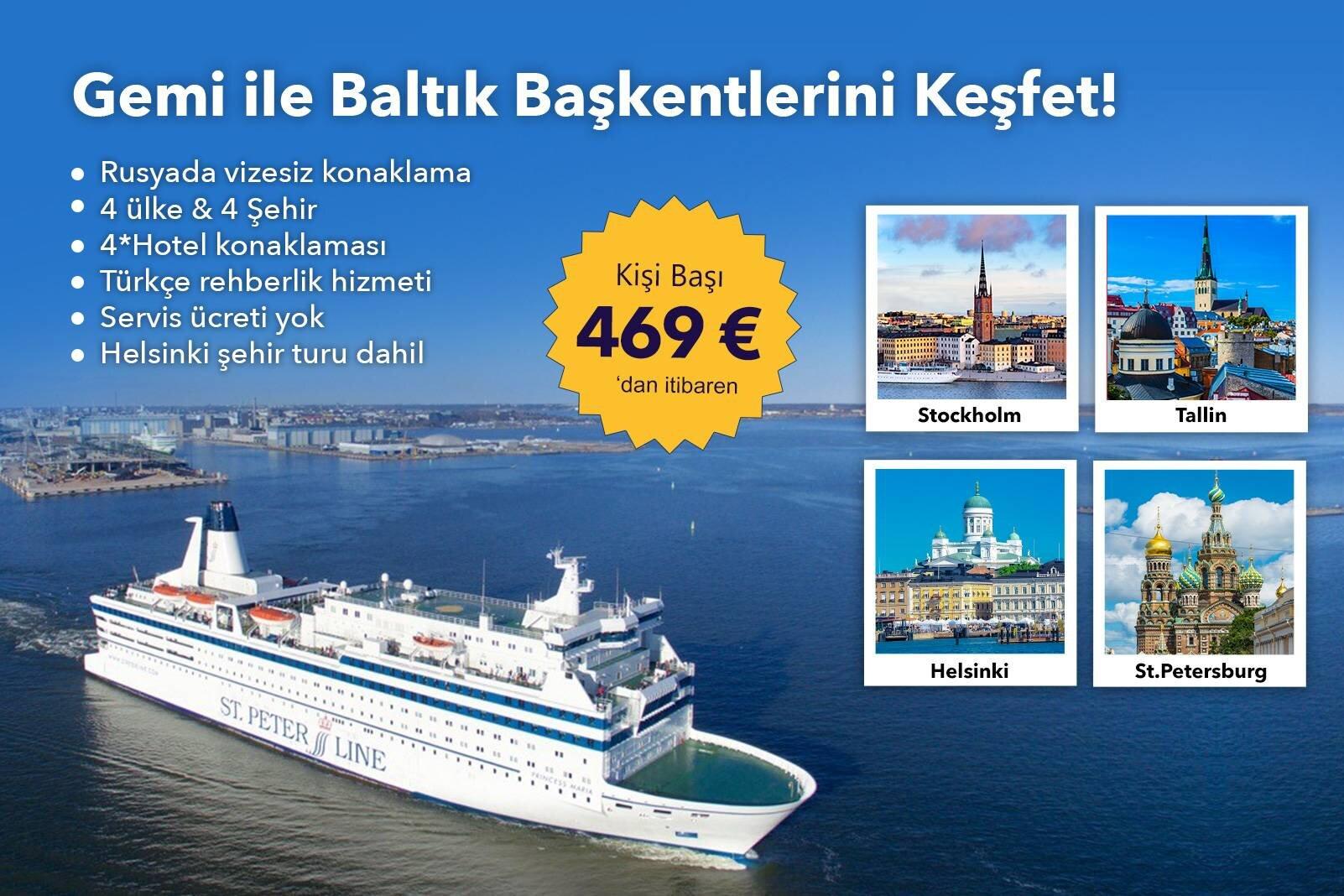 Gemi ile Baltık Başkentlerini Keşfet!