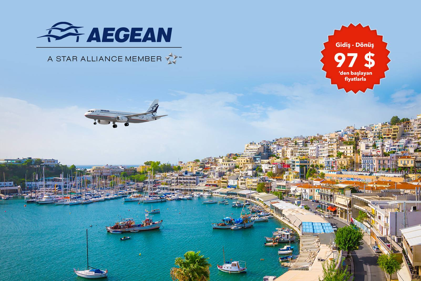 Aegean Airlines ile İstanbul – Atina İndirimli Uçuş Fırsat!