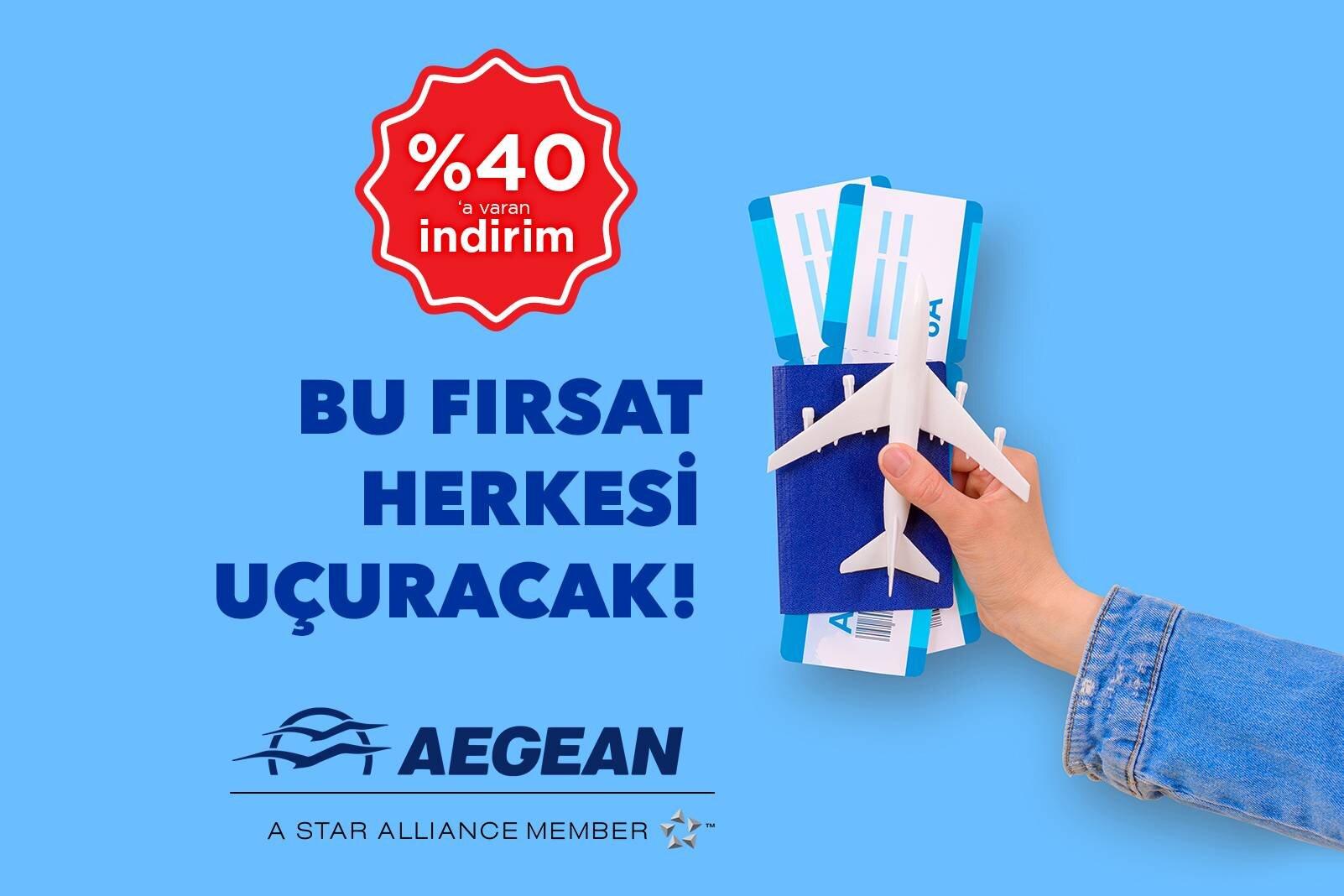 Aegean Airlines İle %40'a Varan İndirimli Fiyatlarla Uçun!