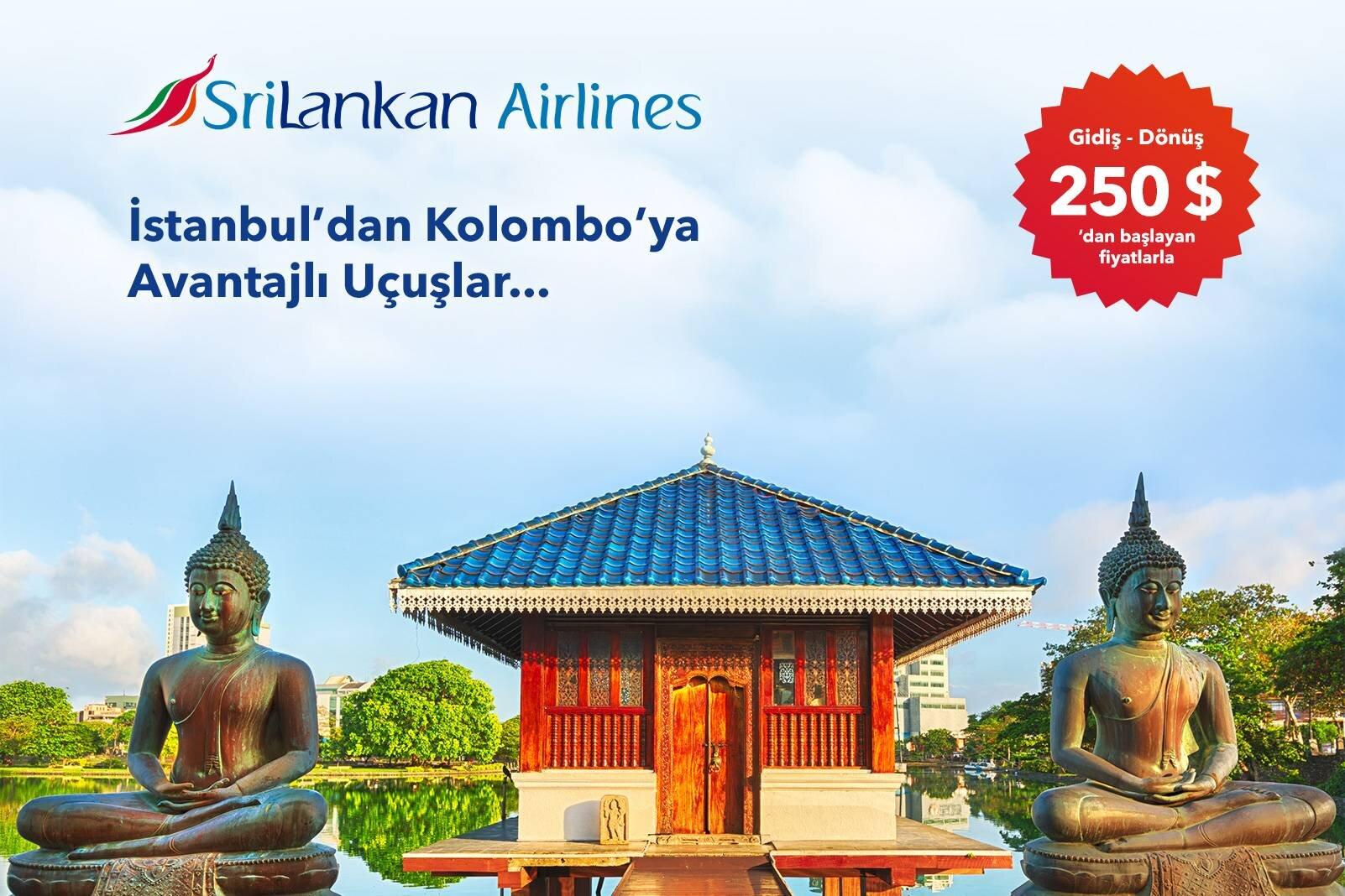 SriLankan Hava Yolları ile İstanbul - Kolombo İndirimli Uçuş Fırsatı