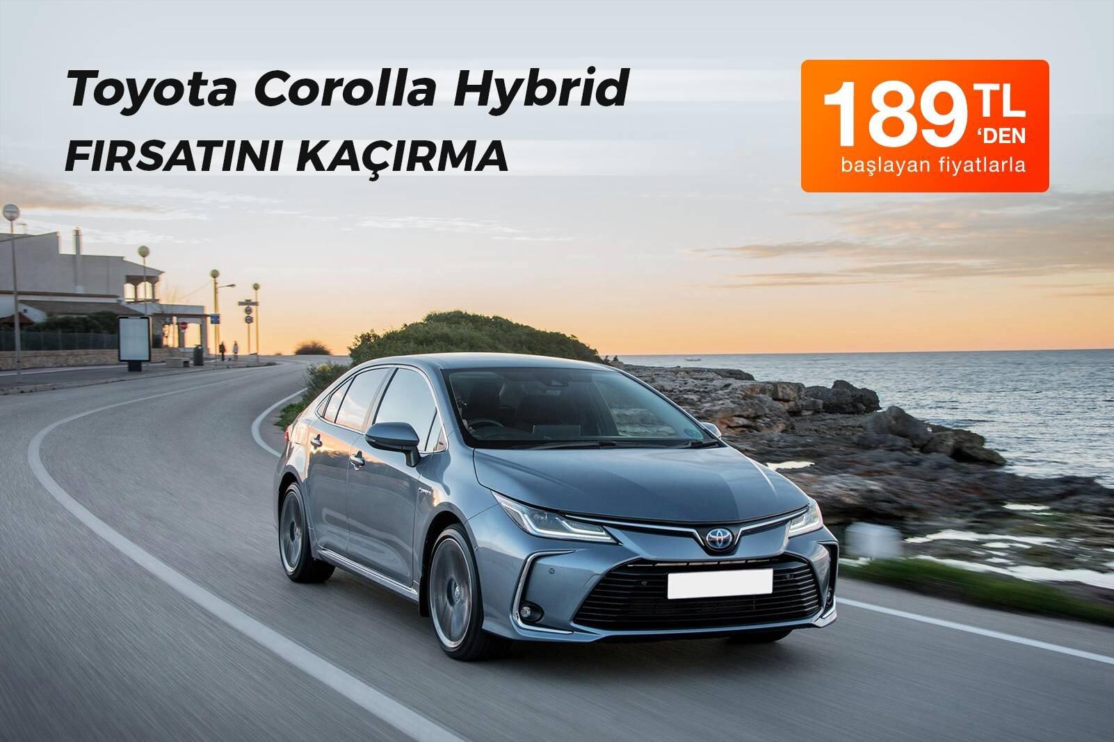 Toyota Corolla Hybrid Kiralama Fırsatı
